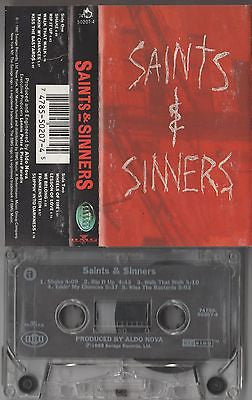 Saints & Sinners Cassette, Self-titled, Orig 1992 Savage, Aldo Nova, S/T, Same