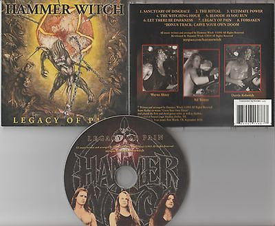 Hammer Witch CD, Legacy of Pain, RARE, Original 2001 Independent Release