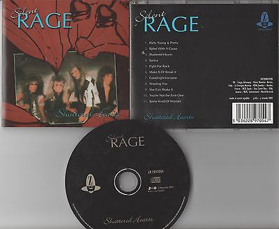 Silent Rage CD, Shattered Hearts, 2001 Z Records, Czech Import, RARE