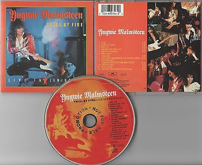 Yngwie Malmsteen CD,Trial By Fire: Live In Leningrad,1st Press,Orig 1989 Polydor