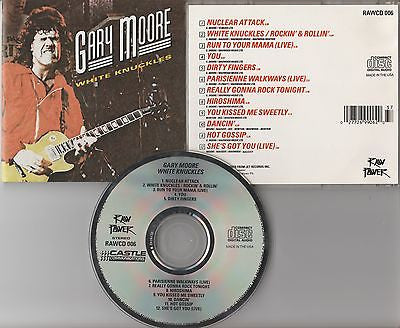 Gary Moore CD, White Knuckles, RARE Raw Power Pressing, Thin Lizzy,Cololsseum II