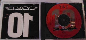 Y&T CD, Ten, Rare Promo Release, SIGNED by Dave Meniketti, 1990 DGC, Y and T, 10