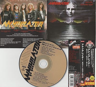 Annihilator, CD, Never, Neverland, Japan Import w/ Obi, Bonus Tracks, Remaster