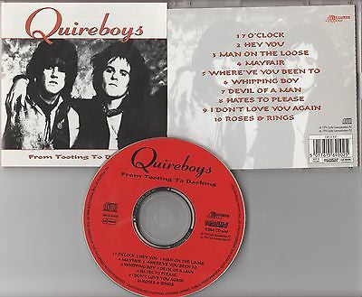 Quireboys CD, From Tooting to Barking, MINT,UK Import, 1994 Castle,Greatest Hits