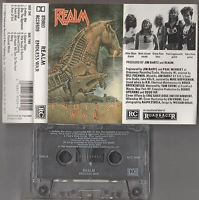 Realm Cassette, Endless War, RARE 1st Press, Orig 1988 Roadrunner, Mark Antoni