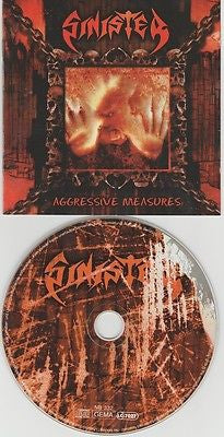 Sinister CD, Aggressive Measures, 1998 Nuclear Blast, German Import
