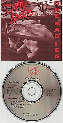 Dirty Looks CD, One Bad Leg, Original 1994 Rockworld