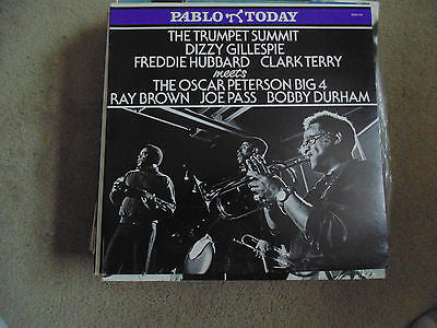 Trumpet Summit LP, Dizzie Gillespie, Hubbard, Terry, Joe Pass, 2312-114, M/NM