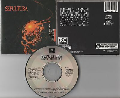 Sepultura CD, Beneath the Remains, RARE 1st Press, Orig 1989 Roadrunner, Soulfly