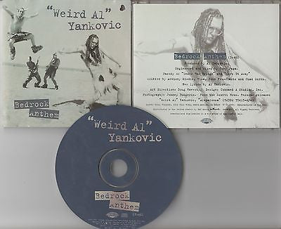Weird Al Yankovic CD, Bedrock Anthem, RARE Promo Single, Red Hot Chili Peppers