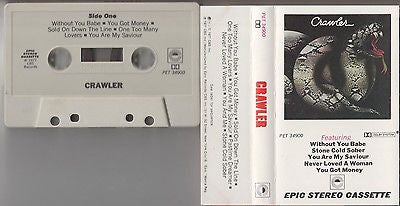 Crawler Cassette, Self-titled, Original Epic Press, Back Street, S/T, Same, RARE