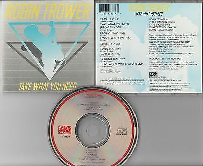 Robin Trower CD, Take What You Need, Procol Harum, 1988 Atlantic, 1st Press