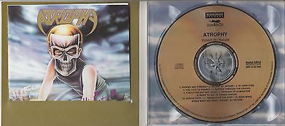 Atrophy CD, Violent By Nature, RARE Ltd Edition Remaster, Gold Disc, Digi