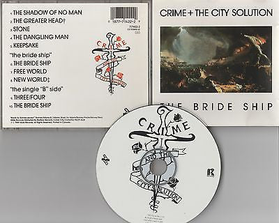 Crime + City Solution CD, The Bride Ship, Original 1989 Restless, Simon Bonney
