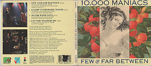 10,000 Maniacs CD, Few & Far Between, RARE Maxi-Single, 1993 Elektra, Digipak