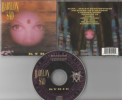 Babylon Sad CD, Kyrie, RARE, Original 1993 Massacre