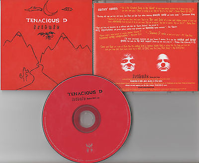 Tenacious D CD, Tribute, RARE Promo Single, 2002 Epic, Jack Black