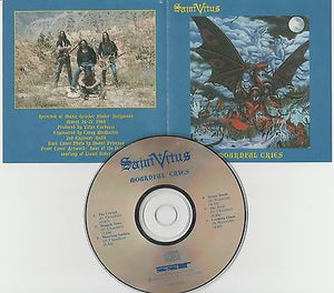 Saint Vitus CD, Mournful Cries, 1988 SST, Obsessed,1st Press, Scott Weinrich,St.