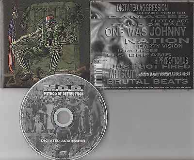 M.O.D. CD,Dictated Aggression,1st Press UK Import,1996 Music for Nations,MOD,SOD