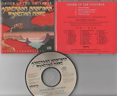 Anderson, Bruford, Wakeman, Howe CD, Order of the Universe, Yes, Promo