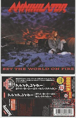 Annihilator, CD, Set the World on Fire, Japan Import w/ Obi,Orig 1993 Roadrunner