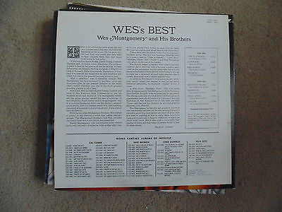 Wes Montgomery & His Brothers LP, Wes' Best, Fantasy, Tan Label, 8376, M/NM