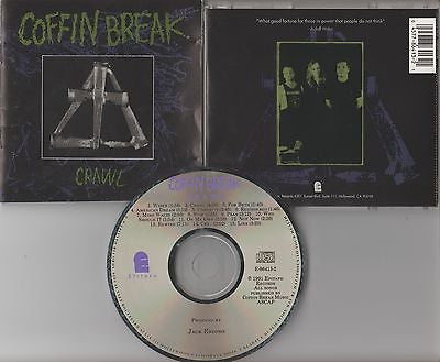 Coffin Break CD, Crawl, 1st Press, Original 1991 Epitaph, Jack Endino