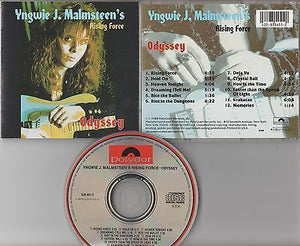 Yngwie Malmsteen's Rising Force CD, Odyssey, Rainbow, Black Sabbath, Uriah Heep