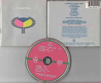 Yes CD, 90125, RARE W. German Import, Owner of Lonely Heart, 1983 Atco, Hold On