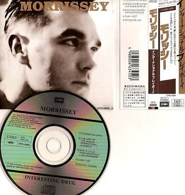 Morrissey CD,Interesting Drug,Japan Import w/ Obi,Maxi-Single,The Smiths,5 Track