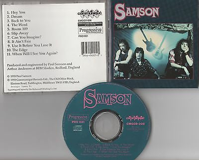 Samson CD, Self-titled, Original 1993 Progressive International, S/T, Same
