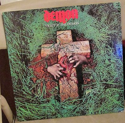 Demon LP, Night of the Demon, French Import, Original 1981 Carrere / Clay