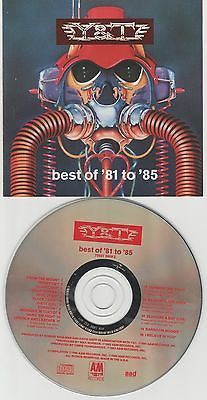 Y&T CD, Best Of 81 to 85, 1990 A&M, Y and T, YnT, Greatest Hits, Mean Streak