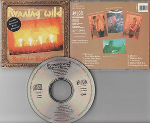 Running Wild CD, Ready for Boarding, W. Germany Import,1989 Noise, Accept,Krokus