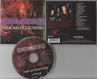 Carnage CD, Dark Recollections, Earache Remaster,Therion, Arch Enemy, Candlemass