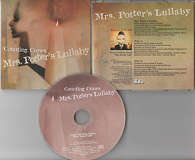 Counting Crows CD, Mrs. Potter's Lullaby, RARE Promo Single, 1999 Geffen