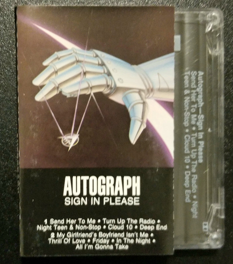 Autograph Sign in Please 1984 Cassette