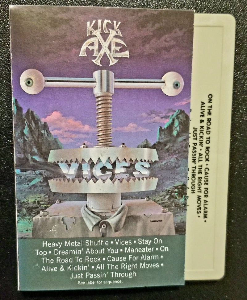 Kick Axe Vices 1984 Cassette