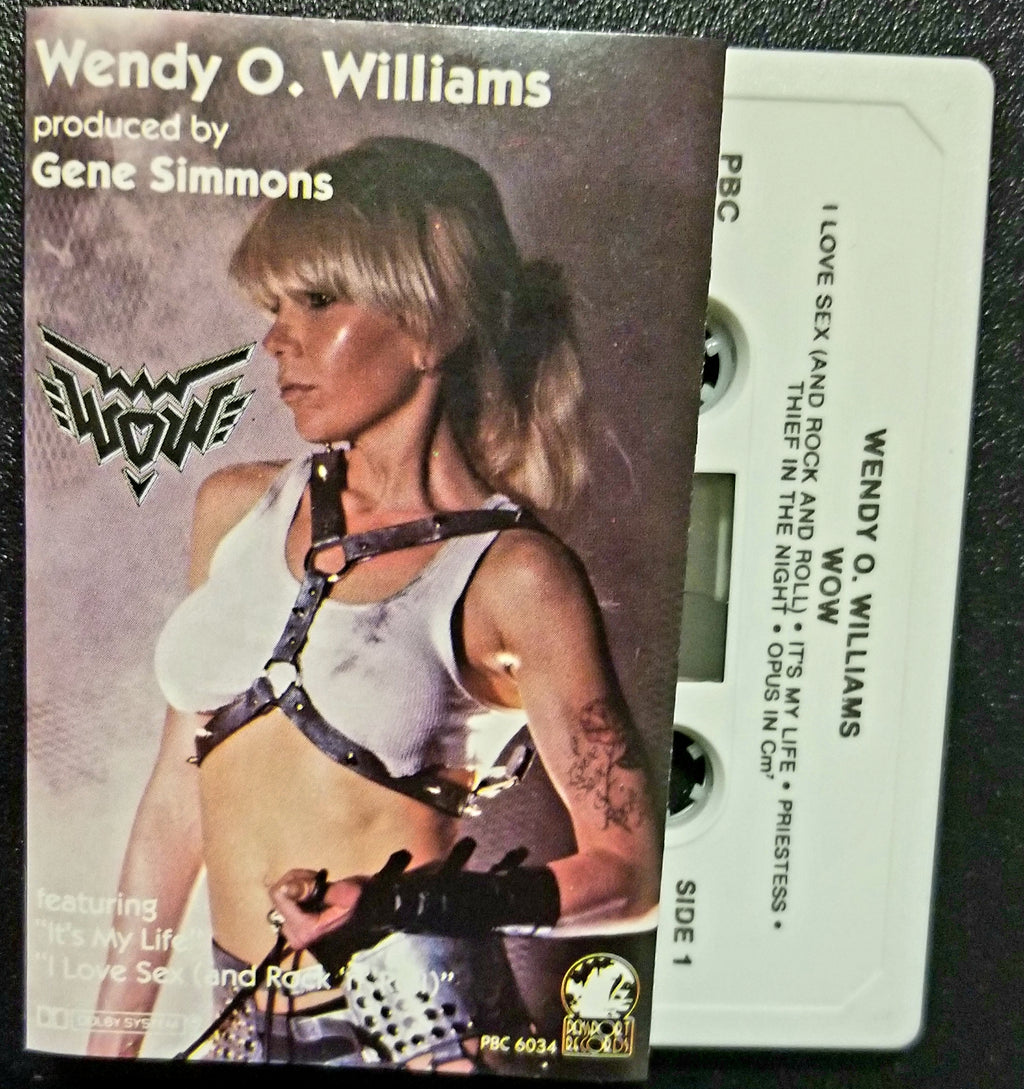 WENDY O. WILLIAMS WOW 1984 Cassette GENE SIMMONS