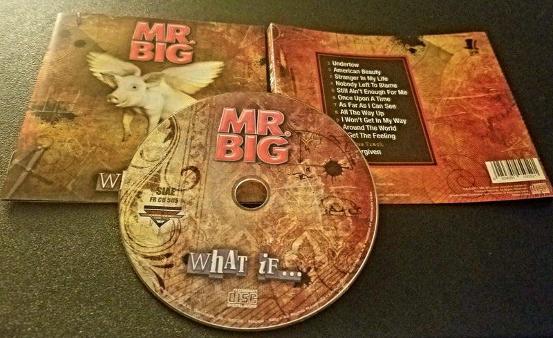 MR. BIG WHAT IF... BONUS TRACK MULTIPAGE BOOKLET CD