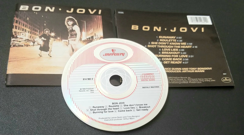 BON JOVI SELF-TITLED, S/T, SAME 1984 CD