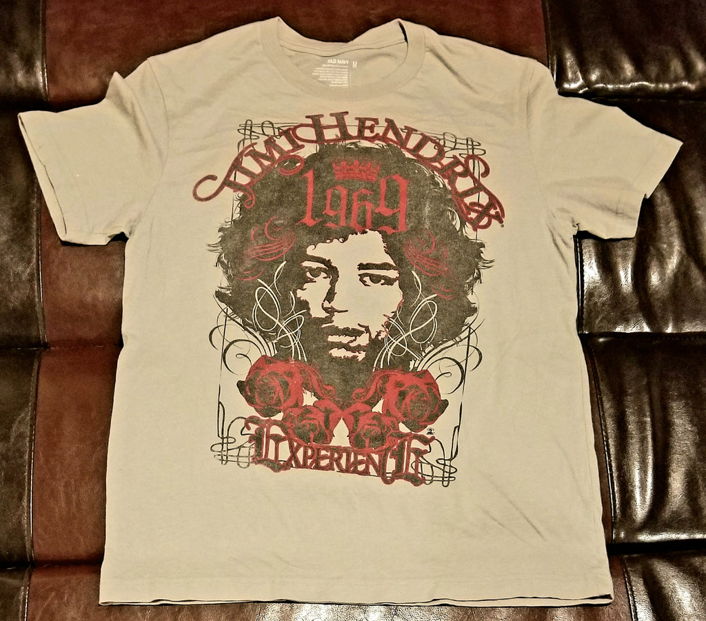 JIMI HENDRIX EXPERIENCE 1969 Retro OLD NAVY T-Shirt Men's MEDIUM