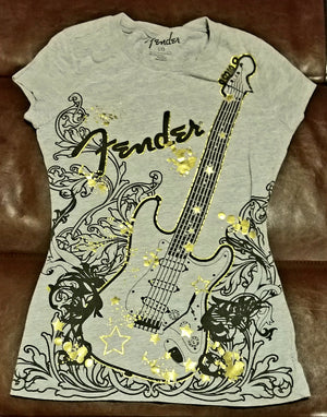 FENDER GUITAR T-Shirt Women's LARGE