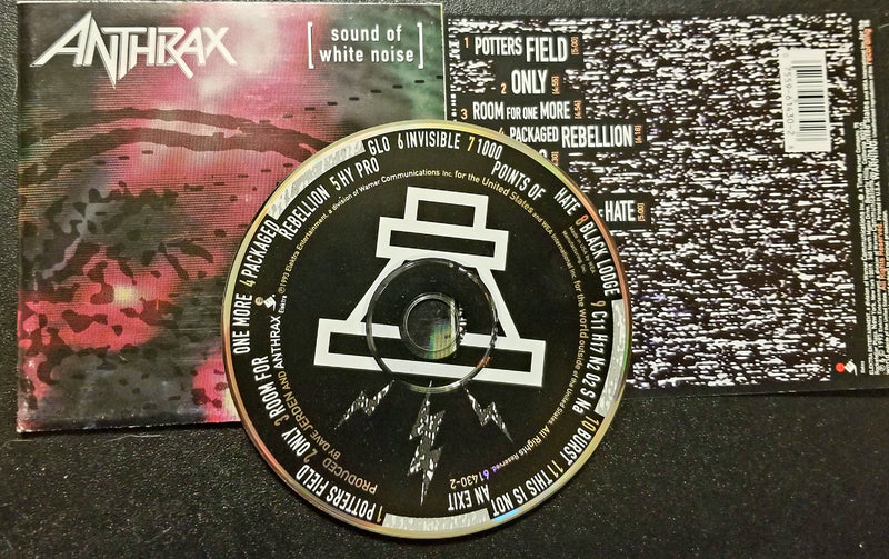 ANTHRAX SOUND OF WHITE NOISE 1993 CD ARMORED SAINT