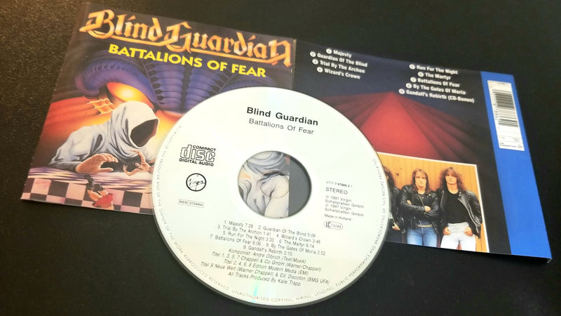 BLIND GUARDIAN BATTALIONS OF FEAR 1991 VIRGIN PRESSING CD