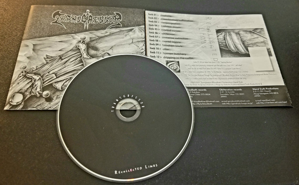 TRANSGRESSOR RECOLLECTED LIMBS 2001 PRESSING CD WT 006