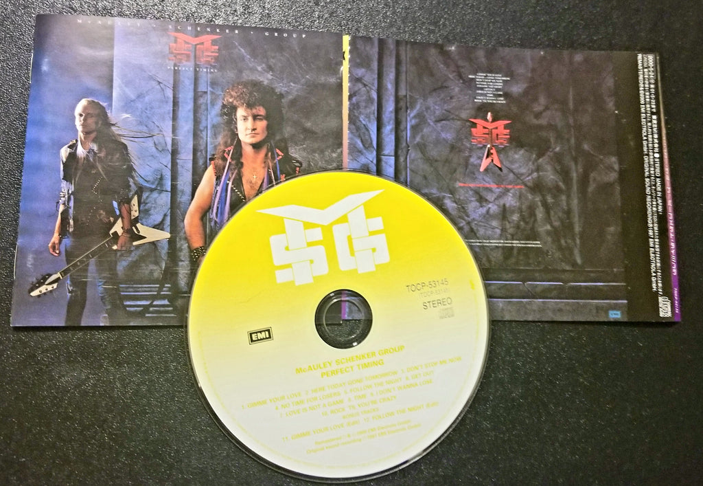 MSG MCAULEY SCHENKER GROUP PERFECT TIMING 2000 REMASTERED JAPAN PRESSING CD NO OBI 2 BONUS TRACKS
