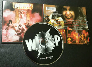 W.A.S.P. SELF-TITLED S/T SAME SNAPPER CLASSICS CD  BONUS TRACKS