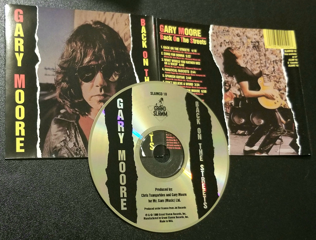 GARY MOORE BACK ON THE STREETS GRAND SLAMM CD