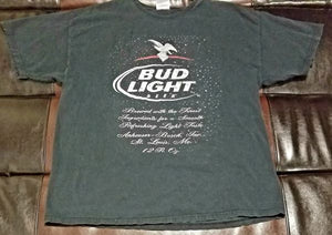 BUD LIGHT BEER HAYNES T-SHIRT Men's X-LARGE XL